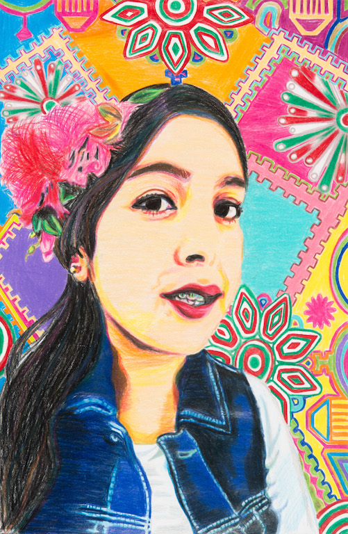 Self-Portrait by Sara Lara, 1st Place Winner of the 2016 9th Congressional District Art Competition